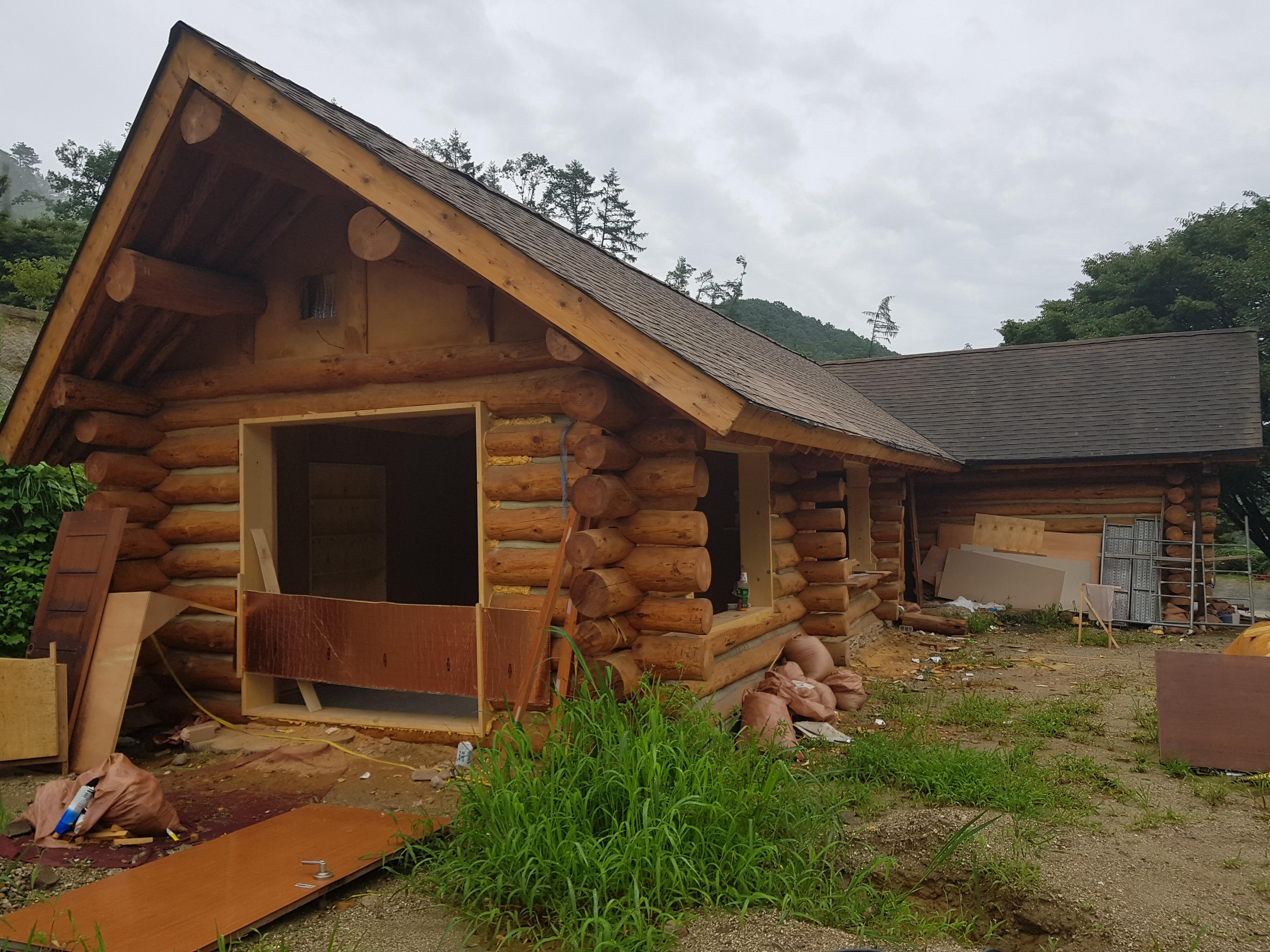 통나무 주택 리모델링